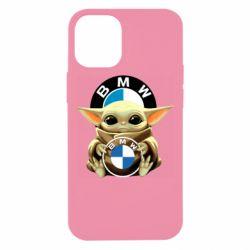Чохол для iPhone 12 mini Baby yoda bmw