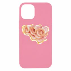 Чехол для iPhone 12 mini Bacon with flowers on the background