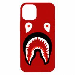 Чехол для iPhone 12 mini Bape shark logo