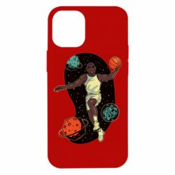 Чехол для iPhone 12 mini Basketball player and space