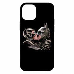 Чехол для iPhone 12 mini Batman and Catwoman Kiss