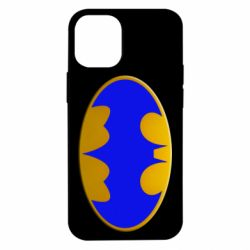 Чехол для iPhone 12 mini Batman blue logo