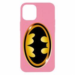 Чохол для iPhone 12 mini Batman logo Gold