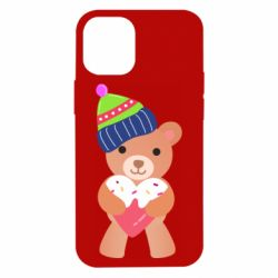 Чехол для iPhone 12 mini Bear and gingerbread