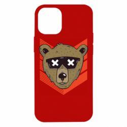 Чехол для iPhone 12 mini Bear with glasses