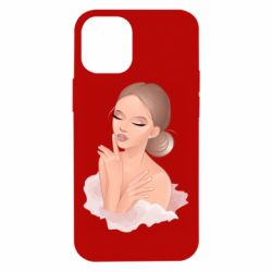 Чехол для iPhone 12 mini Beautiful art girl