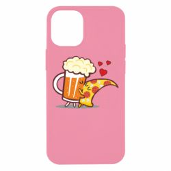 Чохол для iPhone 12 mini Beer and Pizza were kissed