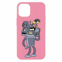 Чохол для iPhone 12 mini Bender and the heads of robots