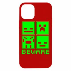 Чохол для iPhone 12 mini Beware Minecraft