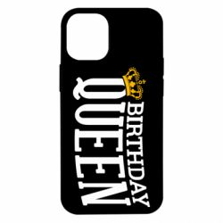Чехол для iPhone 12 mini Birthday queen and crown yellow