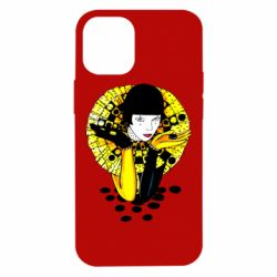 Чехол для iPhone 12 mini Black and yellow clown