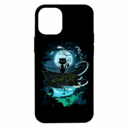 Чехол для iPhone 12 mini Black cat art