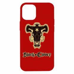 Чехол для iPhone 12 mini Black clover logo