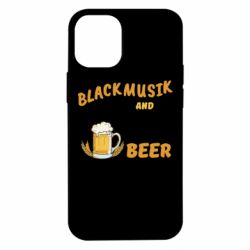Чехол для iPhone 12 mini Black music and bear you can call me sir