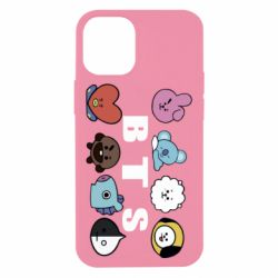 Чохол для iPhone 12 mini Bts emoji