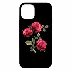 Чехол для iPhone 12 mini Буква Е с розами