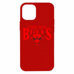 Чехол для iPhone 12 mini Бык на фоне Chicago Bulls