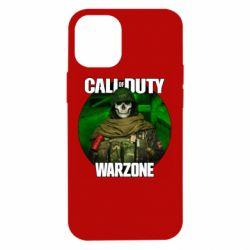 Чохол для iPhone 12 mini Call of duty Warzone ghost green background