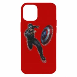 Чехол для iPhone 12 mini Captain america with red shadow
