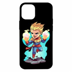 Чехол для iPhone 12 mini Captain marvel hovers in the air
