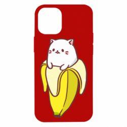 Чехол для iPhone 12 mini Cat and Banana
