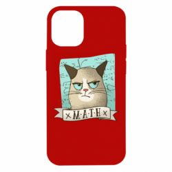 Чехол для iPhone 12 mini Cat and Math