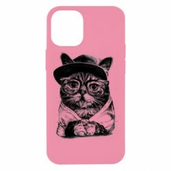 Чохол для iPhone 12 mini Cat in glasses and a cap