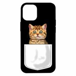 Чехол для iPhone 12 mini Cat in your pocket