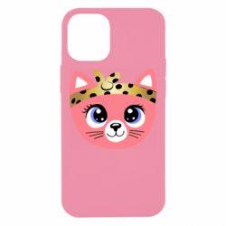 Чехол для iPhone 12 mini Cat pink