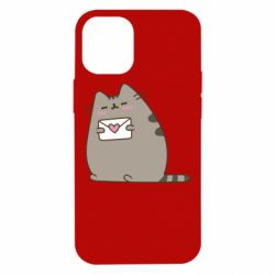 Чохол для iPhone 12 mini Cat with a letter