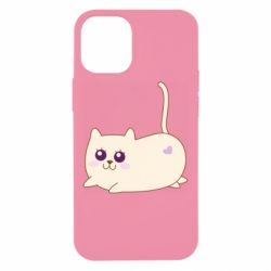 Чехол для iPhone 12 mini Cat with a smile