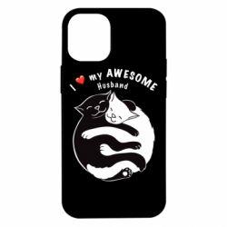 Чехол для iPhone 12 mini Cats and love