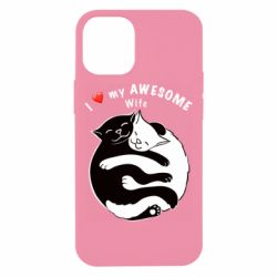 Чехол для iPhone 12 mini Cats with a smile