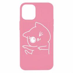 Чехол для iPhone 12 mini Cheerful kitten