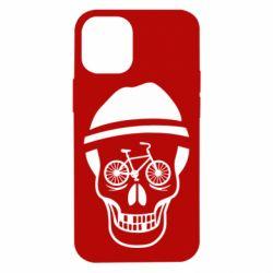 Чехол для iPhone 12 mini Череп велосипедиста