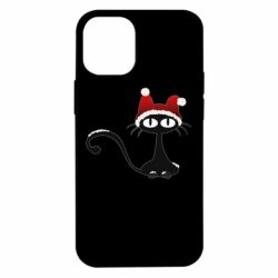 Чехол для iPhone 12 mini Christmas cat