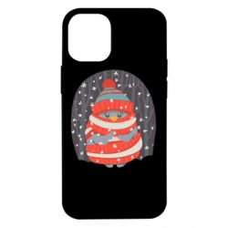 Чехол для iPhone 12 mini Christmas Sweet Penguin