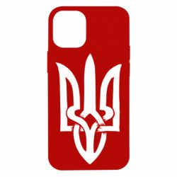 Чехол для iPhone 12 mini Coat of arms of Ukraine torn inside