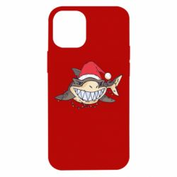 Чехол для iPhone 12 mini Crhistmas Shark