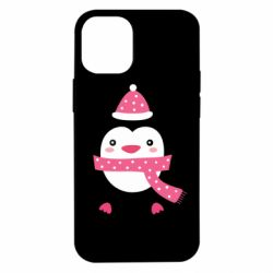 Чехол для iPhone 12 mini Cute Christmas penguin