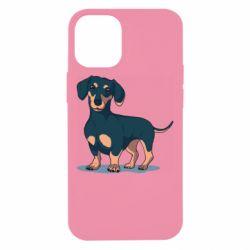 Чехол для iPhone 12 mini Cute dachshund