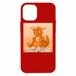 Чохол для iPhone 12 mini Cute dragon with skulls