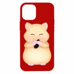 Чохол для iPhone 12 mini Cute hamster with sunflower seed