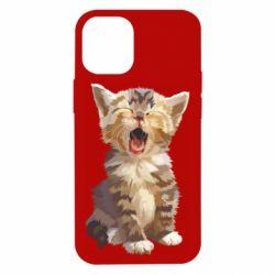 Чохол для iPhone 12 mini Cute kitten vector