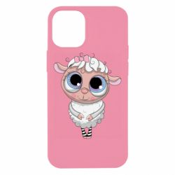 Чехол для iPhone 12 mini Cute lamb with big eyes