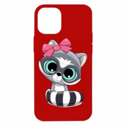 Чехол для iPhone 12 mini Cute raccoon