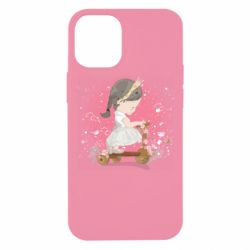 Чехол для iPhone 12 mini Cute Scooter Girl