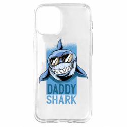 Чехол для iPhone 12 mini Daddy shark