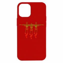 Чехол для iPhone 12 mini Dancing skeletons