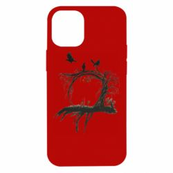 Чехол для iPhone 12 mini Dark autumn forest